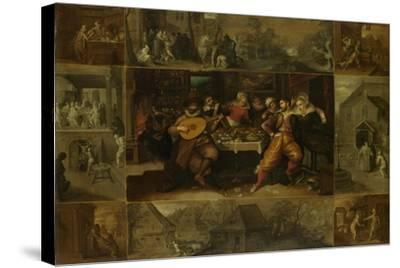 He Parable of the Prodigal Son, 1620-Frans Francken the Younger-Stretched Canvas Print