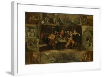 He Parable of the Prodigal Son, 1620-Frans Francken the Younger-Framed Giclee Print