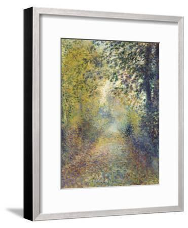 In the Woods, C. 1880-Pierre-Auguste Renoir-Framed Premium Giclee Print