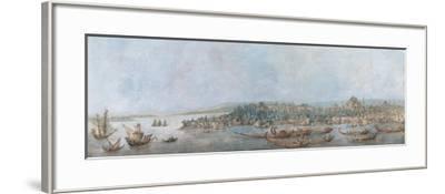 Panorama of Sarayburnu, Late 18th Cent.-Louis-François Cassas-Framed Giclee Print