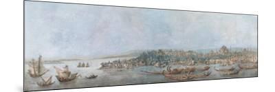 Panorama of Sarayburnu, Late 18th Cent.-Louis-François Cassas-Mounted Giclee Print