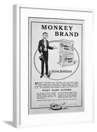Advert for Brooke's Monkey Brand Soap, 1918--Framed Giclee Print