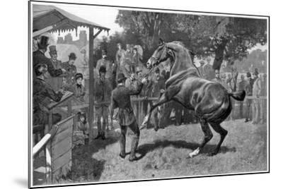 Sale of Hunters Raising and Objection, 1885--Mounted Giclee Print