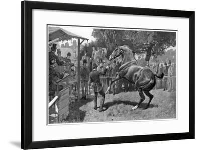 Sale of Hunters Raising and Objection, 1885--Framed Giclee Print