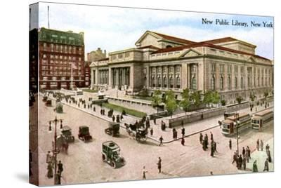 The New Public Library, New York, USA, 1910--Stretched Canvas Print