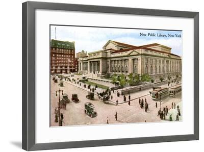 The New Public Library, New York, USA, 1910--Framed Giclee Print