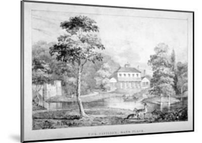 View of the Pavilion, Hans Place, Chelsea, London--Mounted Giclee Print