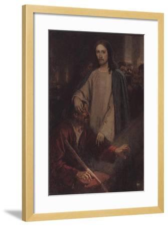 The Healing of the Blind Man of Jericho-Vasili Ivanovich Surikov-Framed Giclee Print