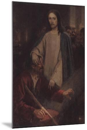 The Healing of the Blind Man of Jericho-Vasili Ivanovich Surikov-Mounted Giclee Print