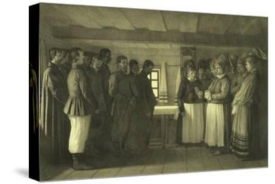 The Doukhobors Praying, 1865-Vasili Vasilyevich Vereshchagin-Stretched Canvas Print