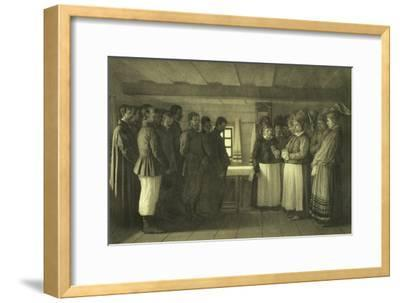 The Doukhobors Praying, 1865-Vasili Vasilyevich Vereshchagin-Framed Giclee Print