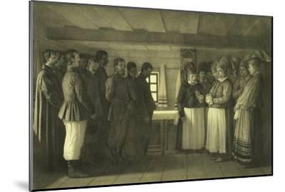 The Doukhobors Praying, 1865-Vasili Vasilyevich Vereshchagin-Mounted Giclee Print