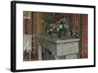 The Mantelpiece (La Cheminé), 1905-?douard Vuillard-Framed Giclee Print