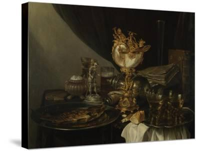 Still Life with a Nautilus Cup, C. 1645-Gerrit Willemsz Heda-Stretched Canvas Print