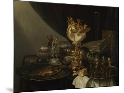 Still Life with a Nautilus Cup, C. 1645-Gerrit Willemsz Heda-Mounted Giclee Print