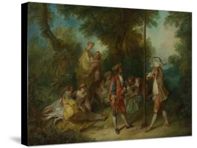 The Four Ages of Man: Maturity, Ca 1735-Nicolas Lancret-Stretched Canvas Print