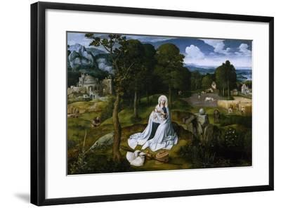 Rest on the Flight into Egypt, 1518-1520-Joachim Patinir-Framed Giclee Print