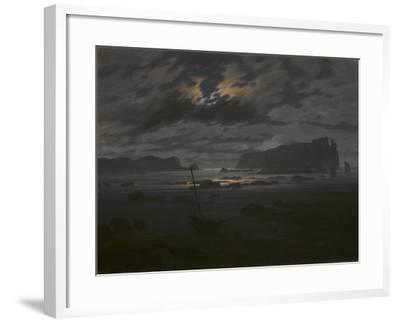 Northern Sea in the Moonlight, C. 1823-Caspar David Friedrich-Framed Giclee Print