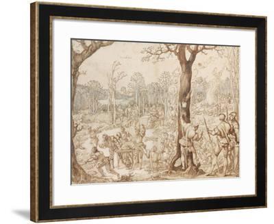 Sharing Out the Game, 1525-1535-Bernaert Van Orley-Framed Giclee Print