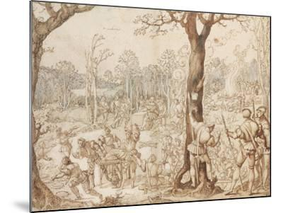 Sharing Out the Game, 1525-1535-Bernaert Van Orley-Mounted Giclee Print