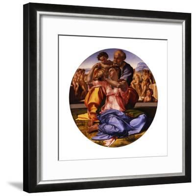 The Holy Family (The Doni Tond)-Michelangelo Buonarroti-Framed Giclee Print