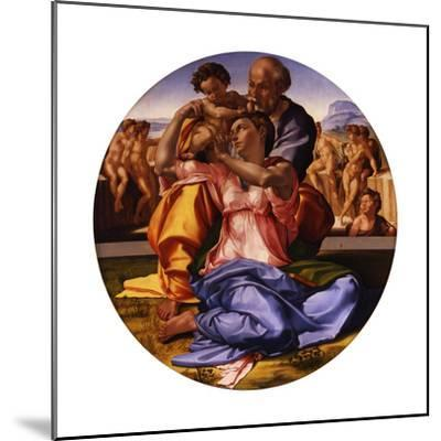 The Holy Family (The Doni Tond)-Michelangelo Buonarroti-Mounted Giclee Print