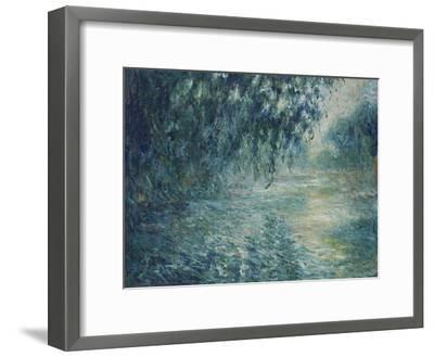 Morning on the Seine, 1898-Claude Monet-Framed Premium Giclee Print
