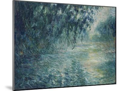 Morning on the Seine, 1898-Claude Monet-Mounted Giclee Print