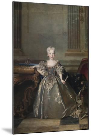 Infanta Mariana Victoria of Spain, 1724-Nicolas de Largillière-Mounted Giclee Print