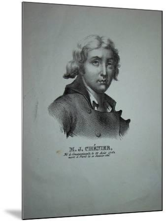 Portrait of the Poet and Dramatist Marie-Joseph Chénier (1764-181)--Mounted Giclee Print