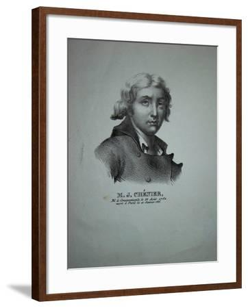 Portrait of the Poet and Dramatist Marie-Joseph Chénier (1764-181)--Framed Giclee Print