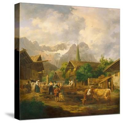Morning in Partenkirchen, 1819-Peter Von Hess-Stretched Canvas Print