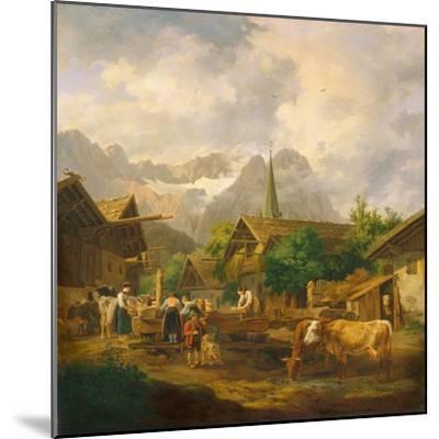 Morning in Partenkirchen, 1819-Peter Von Hess-Mounted Giclee Print