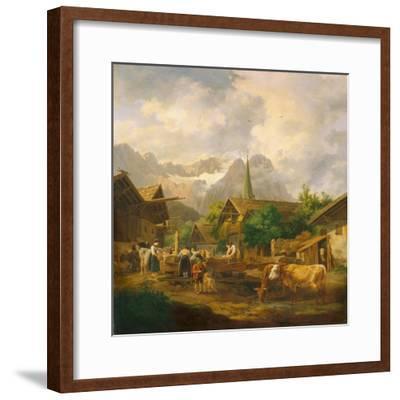 Morning in Partenkirchen, 1819-Peter Von Hess-Framed Giclee Print
