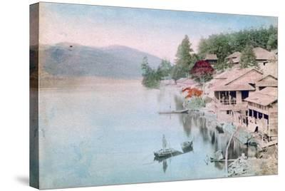 Village by Water, Japan--Stretched Canvas Print