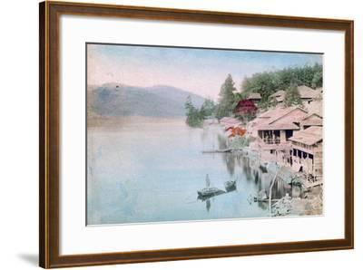 Village by Water, Japan--Framed Giclee Print
