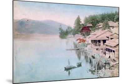 Village by Water, Japan--Mounted Giclee Print