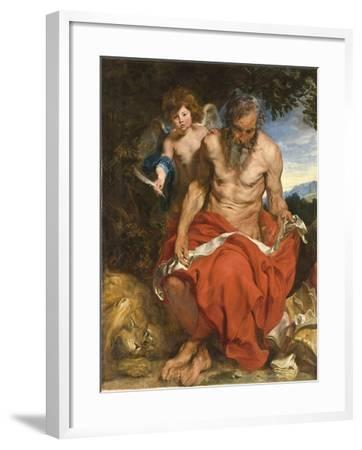 Saint Jerome, 1618-1619-Sir Anthony Van Dyck-Framed Giclee Print