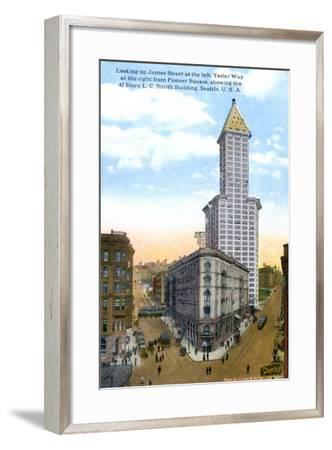 The L.C. Smith Tower, Seattle, U.S.A., C1910S-Curtis & Miller-Framed Giclee Print