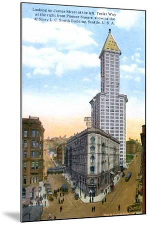 The L.C. Smith Tower, Seattle, U.S.A., C1910S-Curtis & Miller-Mounted Giclee Print
