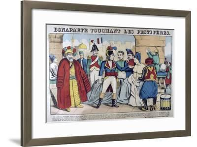 Napoleon Bonaparte Visiting the Plague Stricken of Jaffa, 11th March 1799, 19th Century--Framed Giclee Print