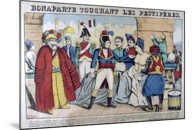 Napoleon Bonaparte Visiting the Plague Stricken of Jaffa, 11th March 1799, 19th Century--Mounted Giclee Print