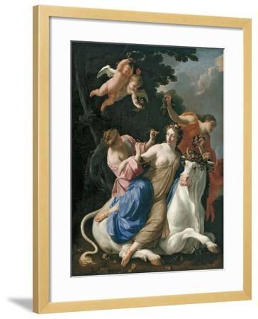 The Rape of Europa, C. 1640-Simon Vouet-Framed Giclee Print