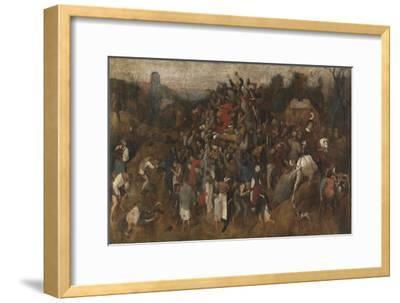 St. Martin's Day Kermis, 1565-1569-Pieter Bruegel the Elder-Framed Giclee Print