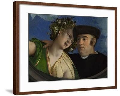 A Man Embracing a Woman, Ca 1524-Dosso Dossi-Framed Giclee Print