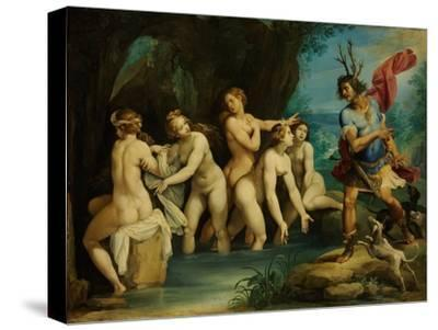 Diana and Actaeon, Ca 1604-Giuseppe Cesari-Stretched Canvas Print