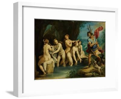 Diana and Actaeon, Ca 1604-Giuseppe Cesari-Framed Giclee Print