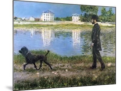 Richard Gallo and His Dog at Petit Gennevilliers, C. 1883-1884-Gustave Caillebotte-Mounted Giclee Print