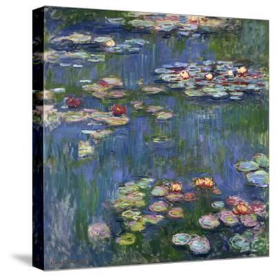 Water Lilies, 1916-Claude Monet-Stretched Canvas Print