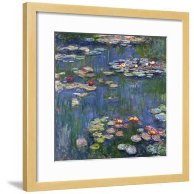 Water Lilies, 1916-Claude Monet-Framed Giclee Print